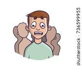social anxiety disorder  social ... | Shutterstock .eps vector #736599955