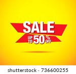 sale banner layout design | Shutterstock .eps vector #736600255