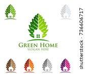 green home logo  real estate... | Shutterstock .eps vector #736606717