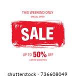 sale banner layout design   Shutterstock .eps vector #736608049