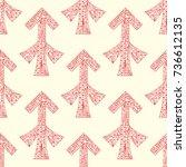 sagittarius zodiac sign. vector ... | Shutterstock .eps vector #736612135