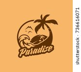 beach logo | Shutterstock .eps vector #736616071
