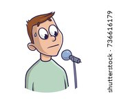 fear of public speaking ... | Shutterstock .eps vector #736616179