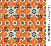 vector tender background in... | Shutterstock .eps vector #736617454