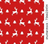 christmas icons seamless... | Shutterstock .eps vector #736623454