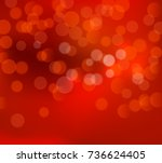 red christmas blurry background.... | Shutterstock .eps vector #736624405