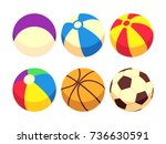 sport and toy balls icons... | Shutterstock .eps vector #736630591