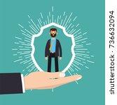 customer care  retention or... | Shutterstock .eps vector #736632094