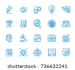 lawyer and business vector icon ... | Shutterstock .eps vector #736632241