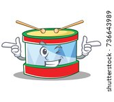 wink toy drum character cartoon | Shutterstock .eps vector #736643989
