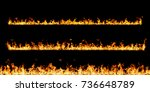 fire flames on black background | Shutterstock . vector #736648789