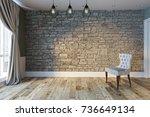 Empty Interior Design Living...