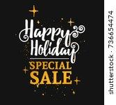 template design banner for... | Shutterstock . vector #736654474