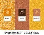 vector set of design templates... | Shutterstock .eps vector #736657807