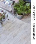 modern interior detail... | Shutterstock . vector #736658164