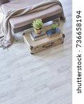 modern interior detail... | Shutterstock . vector #736658194