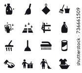 16 vector icon set   cleanser ... | Shutterstock .eps vector #736661509