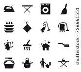 16 vector icon set   iron  iron ... | Shutterstock .eps vector #736661551