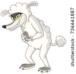 wolf in sheep s clothing | Shutterstock .eps vector #736661887