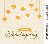 happy thanksgiving day creative ... | Shutterstock .eps vector #736668865