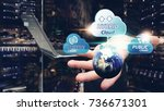 hybrid cloud computing service  ... | Shutterstock . vector #736671301