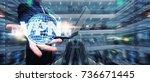 vpn network security computer... | Shutterstock . vector #736671445