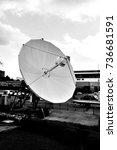 very large satellite antenna... | Shutterstock . vector #736681591