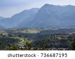 view of landscape of the alpine ... | Shutterstock . vector #736687195