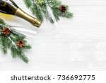 new year 2018 celebration with... | Shutterstock . vector #736692775