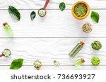 natural cosmetics with tea... | Shutterstock . vector #736693927