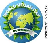 vector illustration of world... | Shutterstock .eps vector #736697551
