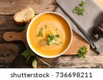 vegetable soup | Shutterstock . vector #736698211