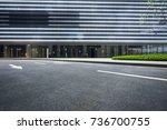 empty road with modern... | Shutterstock . vector #736700755
