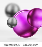 tech blurred spheres and round... | Shutterstock .eps vector #736701109