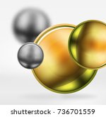 tech blurred spheres and round... | Shutterstock .eps vector #736701559