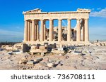 the parthenon is a former greek ... | Shutterstock . vector #736708111