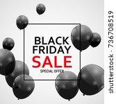 black friday sale banner... | Shutterstock . vector #736708519