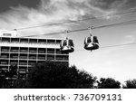 excellent cable car. cable car... | Shutterstock . vector #736709131