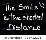 the smile is the shortest...   Shutterstock . vector #736712221