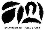 grunge splatter set. ink stains ... | Shutterstock .eps vector #736717255