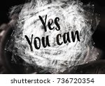 fitness motivation quote | Shutterstock . vector #736720354