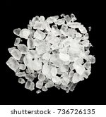 sea salt on a black background | Shutterstock . vector #736726135