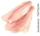 raw fish fillet isolated on... | Shutterstock . vector #736726144