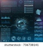 vector futuristic interface hud ...