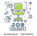 job vacancy concept on light... | Shutterstock .eps vector #736744441
