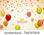 thanksgiving day poster design. ... | Shutterstock .eps vector #736747819