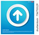 upper arrow icon | Shutterstock .eps vector #736753129