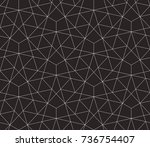 seamless linear pattern with... | Shutterstock .eps vector #736754407