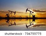 the oil pump  industrial... | Shutterstock . vector #736755775