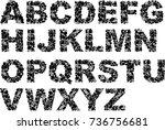 stylized underwater marine... | Shutterstock .eps vector #736756681
